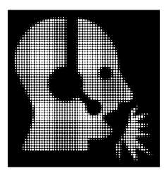 white halftone operator speech icon vector image