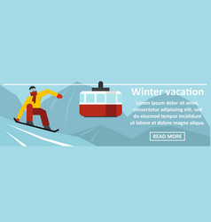 winter vacation banner horizontal concept vector image