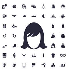 Woman face icon vector