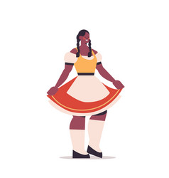 woman wearing german traditional clothes vector image