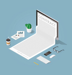 Working with documents concept vector