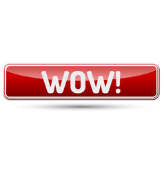 Wow - abstract beautiful button with text vector