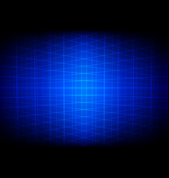 Abstract blue grid perspective technology vector