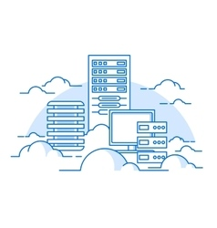 Cloud service database vector image vector image