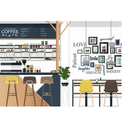 coffee shop interiors design vector image vector image