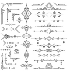 Collection of geometric art design elements vector image vector image