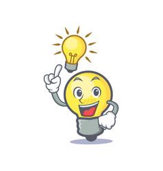 have an idea light bulb character cartoon vector image vector image