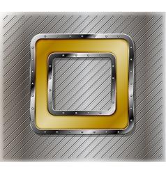 Metallic number zero vector image