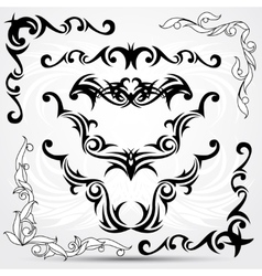Set of tribal tattoo elements vector image vector image