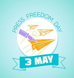 3 may Press Freedom Day vector image vector image