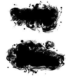 Black banner vector