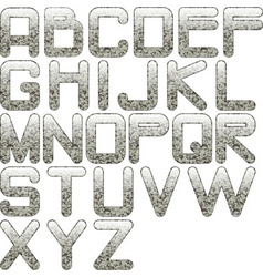 eps10 alphabet granite vector image