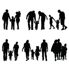 families in walking vector image vector image
