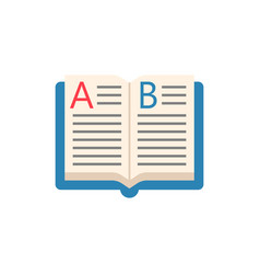 open book flat icon education and school element vector image vector image