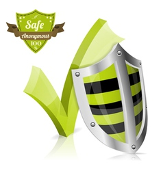 Safe and Anonymous Concept vector image vector image