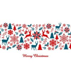 Christmas banner seamless pattern vector image