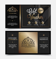 gift voucher royal brand template vector image