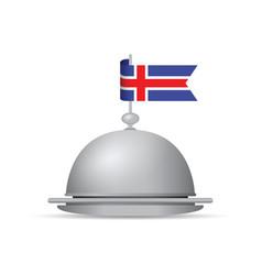 iceland flag platter vector image vector image