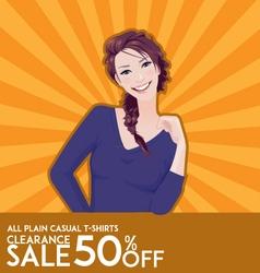 model girl on sale poster vector image