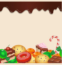 Seamless pattern colorful candy sweets and vector image