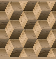 seamless pattern of wooden cubes vector image