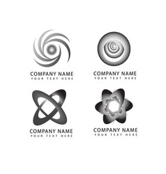 abstract flower and circle logo symbols and icons vector image vector image