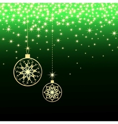 Cristmas green card vector image