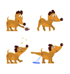 cute dog set vector image vector image