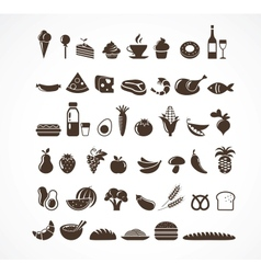 Food icons and elements vector