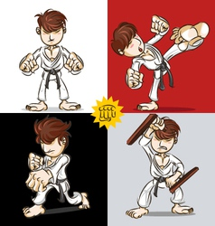 Martial Art Karate vector image vector image