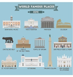Rome famous places vector image vector image
