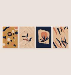 abstract botanical organic art set vector image