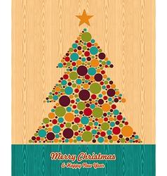 Abstract Christmas tree greeting card vector image