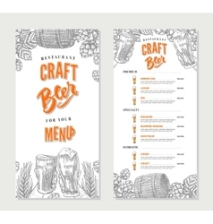 Alcoholic beverages restaurant menu template vector