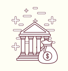 bank building and money design vector image