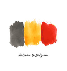 Belgium watercolor national country flag icon vector