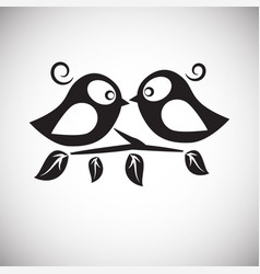 birds in love on white background vector image