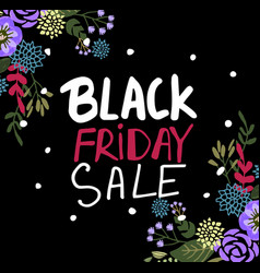 black friday text for banne vector image