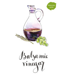 Bottle of balsamic vinegar vector