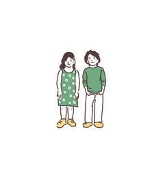 boy baby preschooler and schoolboy an vector image