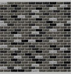 brick wall black grey vector image
