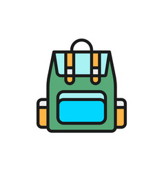 camping backpack tourist backpack flat vector image