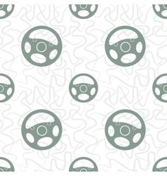 Car Steering Wheel Seamless Pattern vector
