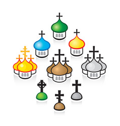 Christian orthodox churches religious temples vector