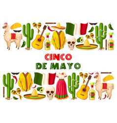 Cinco de mayo holiday mexican greeting card vector