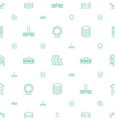 City icons pattern seamless white background vector
