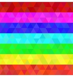 Colorful geometric seamless pattern rainbow colors vector image