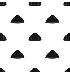 Construction helmet icon in black style isolated vector