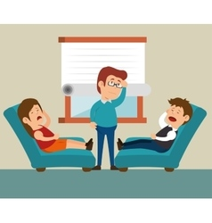 Couple consultation office therapy vector