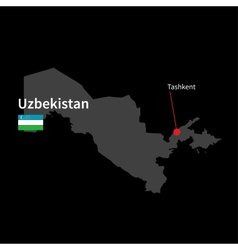 Detailed map of Uzbekistan and capital city vector image